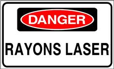Danger Rayons laser - STF 3312S