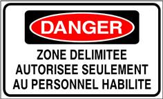 Danger zone délimitée autorisée seulement ... - STF 3313S