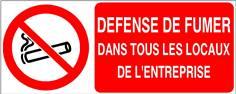 Défense de fumer dans tous les locaux de l´entreprise - STF 3639S