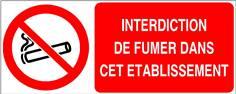 Interdiction de fumer dans cet établissement - STF 3643S