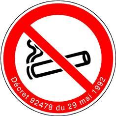 Défense de fumer avec décret - STF 1720S
