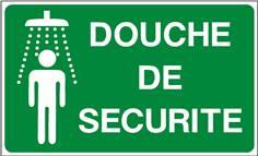 Douche de sécurité - picto + texte - STF 2006