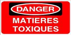 DANGER Matières toxiques - STF 2813S