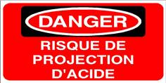 DANGER Risque de projection d´acide - STF 2811S
