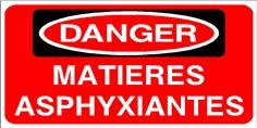 DANGER Matières asphyxiantes - STF 2814S