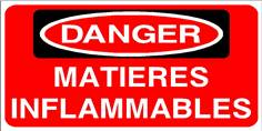 DANGER Matières inflammables - STF 2815S