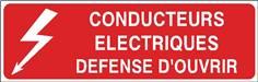 Conducteurs électriques défense d´ouvrir - STF 2515S