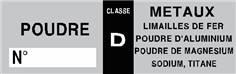 Etiquettes extincteur D - STF 1811S (lot de 20)