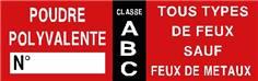Etiquettes extincteur ABC - STF 1812S (lot de 20)