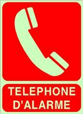 Téléphone d´arlarme - STF 3915S photoluminescent Classe A
