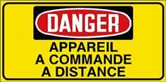 Danger Appareil à commande à distance - STF 3030S