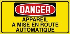 Danger Appareil a mise en route automatique - STF 3029S