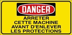 Danger Arrêter cette machine avant d´enlever les ... - STF 3034S