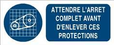 Attendre l´arrêt complet avant d´enlever ces protections - STF 3018S