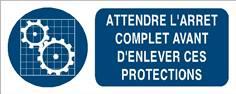 Attendre l´arrêt complet avant d´enlever ces protections - STF 3021S