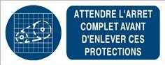 Attendre l´arrêt complet avant d´enlever ces protections - STF 3024S
