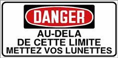 Danger Au delà de cette limite mettez vos lunettes - STF 3038S