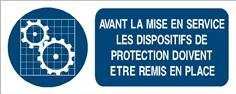 Avant la mise en service les dispositifs de protections...- STF 3019S