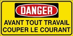 Danger Avant tout travail couper le courant - STF 3032S