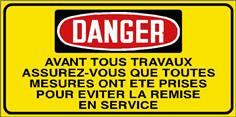 Danger Avant tous travaux assurez-vous que... - STF 3033S