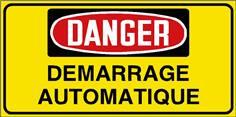 Danger Démarrage automatique - STF 3031S