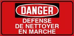 Danger Défense de nettoyer en marche - STF 3025S