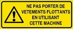 Ne pas porter de vêtements flottants en utilisant ... - STF 3012S