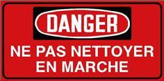 Danger Ne pas nettoyer en marche - STF 3028S