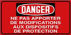 Danger Ne pas apporter de modifications aux dispositifs ..- STF 3036S