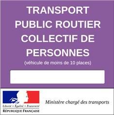 Vignette pour les véhicules de transport public routier collectif de personnes