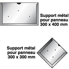 Support métal pour plaques d´identification de transport