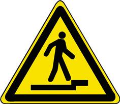 Danger - Accès accidenté vers le haut - STF 3135S