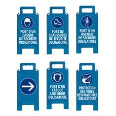 Chevalet de signalisation Bleu