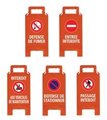 Chevalet de signalisation Rouge
