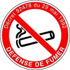 Défense de fumer avec texte - STF 1719S