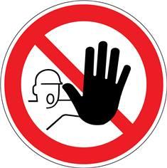 Marquage au Sol Entrée interdite aux personnes non autorisées PIC 2110