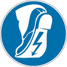 Signalétique Port de Chaussures Conductrices Obligatoire - PIC 272
