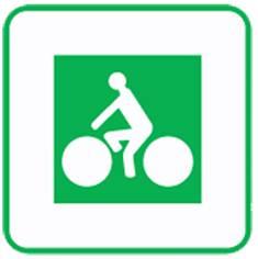 Panneau complémentaire d´identification d´un itinéraire cyclable Dv11 - 200 x 200 mm