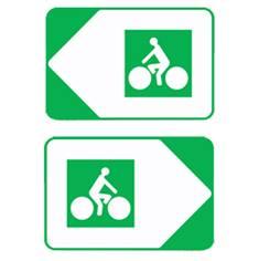 Panneau directionnel de position pour pistes cyclables Dv21c - H 200 x L 300 mm
