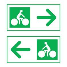 Panneau de présignalisation des carrefours-flèche droite/gauche Dv43C