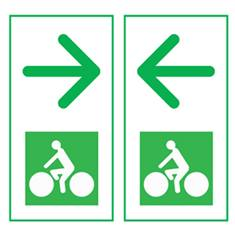 Panneau de présignalisation des carrefours-flèche droite/gauche Dv43d