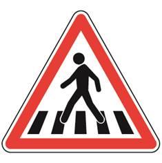 Panneau de danger Passage pour piétons - A13b