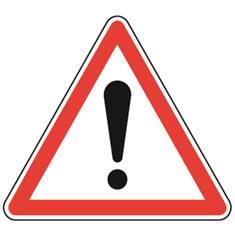 Panneau de danger Point d´exclamation - A14
