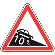 Panneau de danger Descente dangereuse - A16
