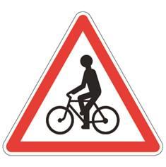 Panneau de danger Cyclistes - A21