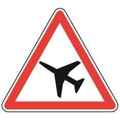 Panneau Traversée d´une aire de danger aérien - A23
