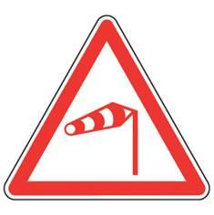 Panneau de danger Vent latéral - A24