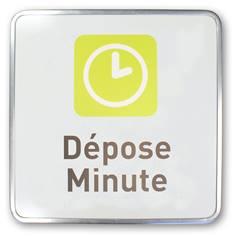 Panneau Dépose minute