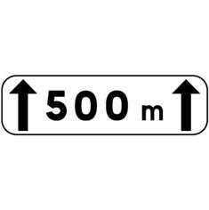 Panonceau d´étendue M2 pour panneaux routiers