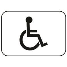 Panonceau handicapé - M4n pour panneau d´indication type C